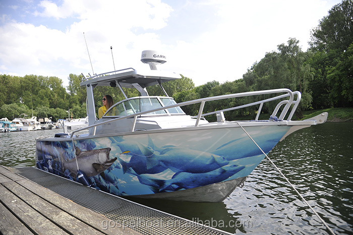CE certification all welded aluminum enclosed cabin fishing boats for sale
