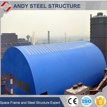 Competitive price light gauge bulk warehouse shed for coal storage