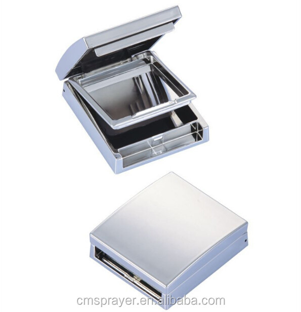 Square shape loose powder case/loose powder container/Luxury cosmetic packaging