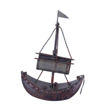 The Antique Metal Boat Statue Sculpture For Office Table Decoration