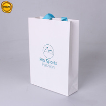 Factory Custom White Paper Shopping Bags with letter design