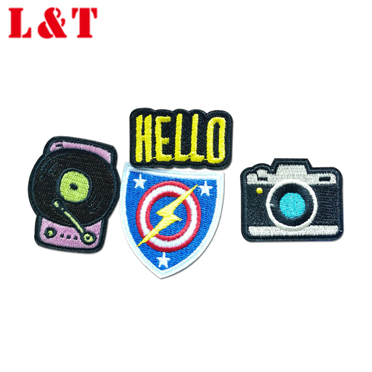 Hot Sale China 3D Embroidery Patch Flock Letters Iron On
