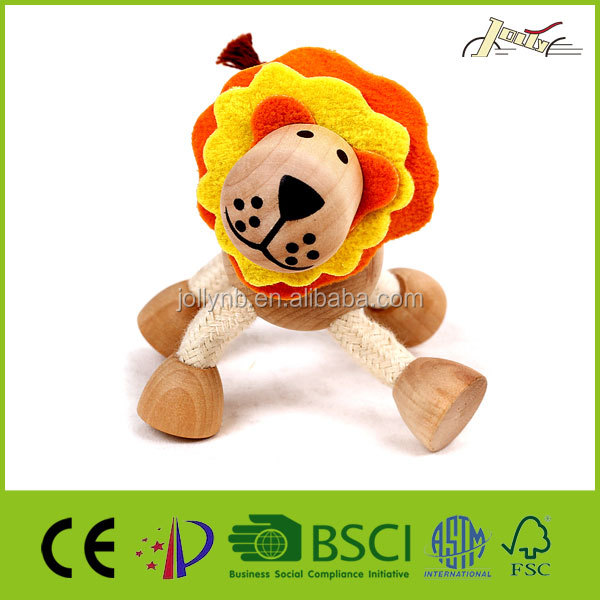 Organic Maple 3D Lion Wooden Animals for Kids Education Toy Wood Lion