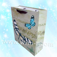 New fancy with company logo shopping bag ,cheap gift bags ,smart shopping paper bag with handle