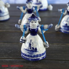 Delft blue ceramic hand painted female home decoration