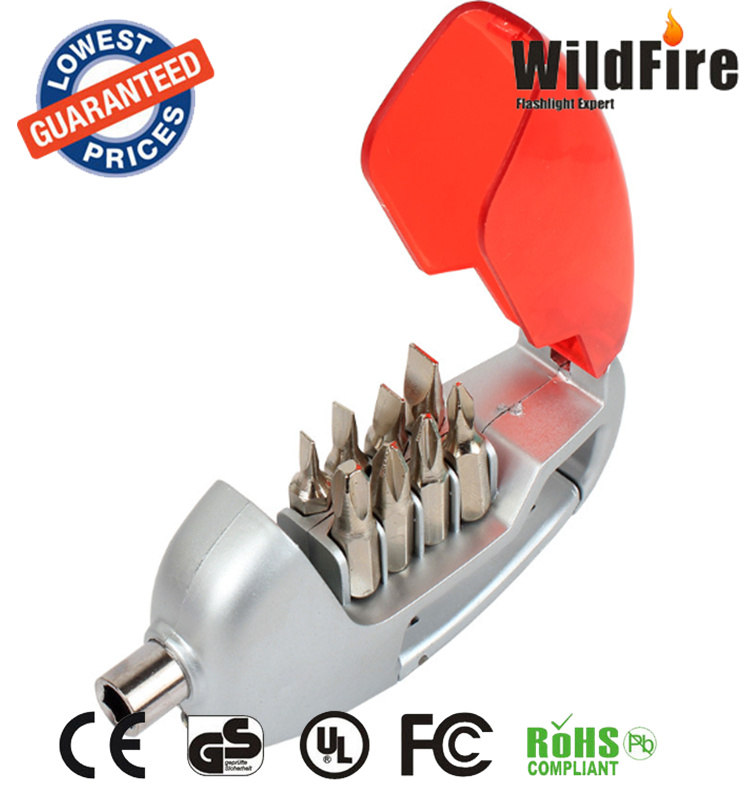 With a lamp screwdriver level instrument multi-purpose LED lamp word cross small household hardware repair <strong>tool</strong>
