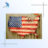 High Quality Custom Printed Handmade Antique Imitation Decorative Hanging Wall Wood Map Plates