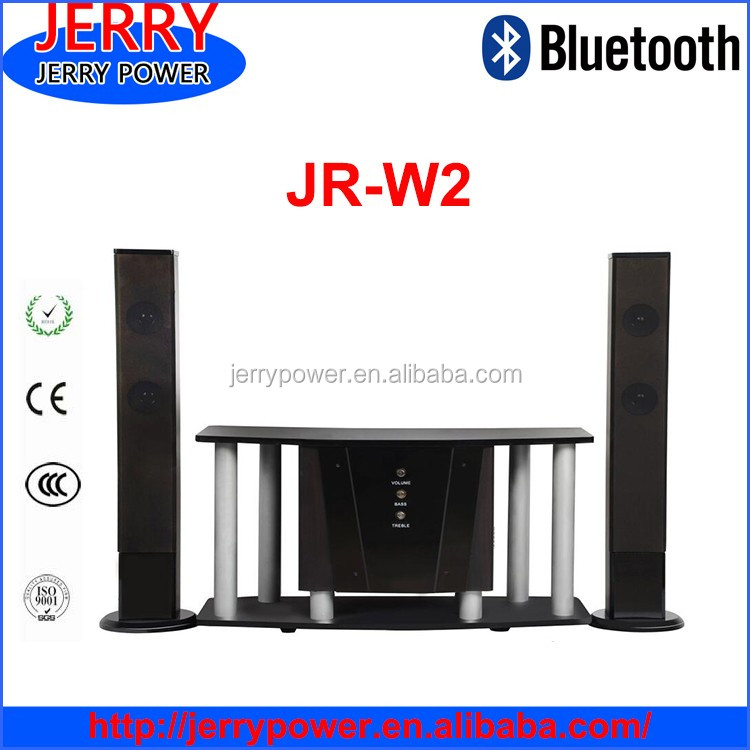 JERRY wooden 2.1 woofer speakers lcd tv speakers