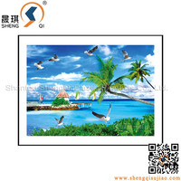 3d Beautiful Scenery Painting Lenticular Printing Picture