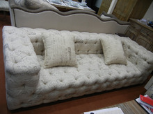 Fabric lounge chesterfield sofa chesterfield loveseat fabric sofa linen sofa white