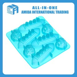 Candy Molds Ice Cream Tools,food safe,soft,hot summer cool frozen silicone ice cube trays