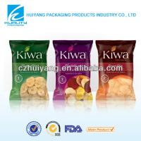 printed food packaging plastic flexible inflatable pouch for chips