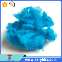 PET flakes recycled dyed polyester staple fiber for felt