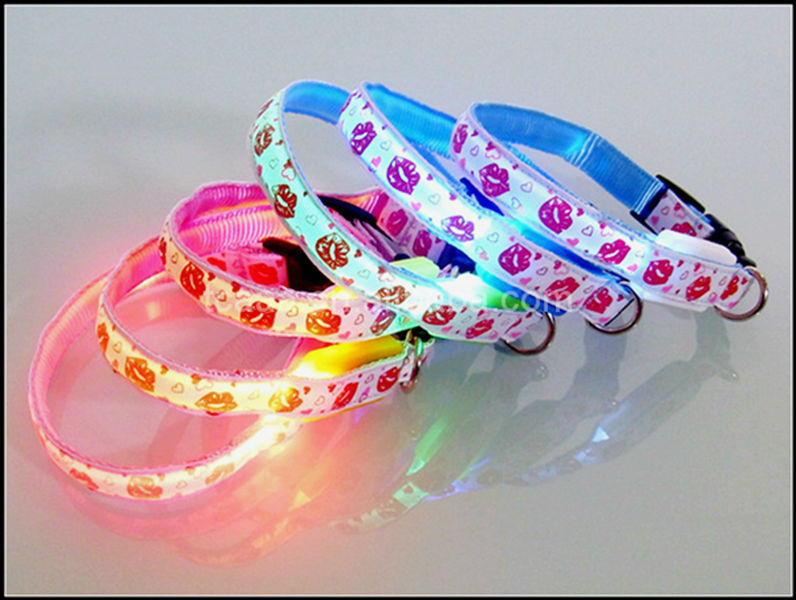 2015 hot sale led european dog leash and collar,pet dog collar