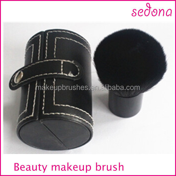 1pcs Pro Mushroom Blush Loose Power Brush Kabuki with Case