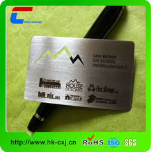 2014 new business card metal name card words embossed metal business cards