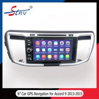 Android 4.4.4 gps tracker with car dvd player for Honda Accord 9