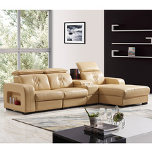 1 Wholesale heated fancy italian modern modular massage <strong>furniture</strong> living room lounge wooden big l shaped real leather sofa set
