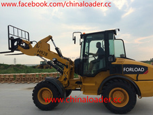 2200-2500kgs front end mini 4WD garden wheel loader with pallet fork for sale