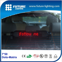 7x50 decorative 5V car window message led moving taxi sign