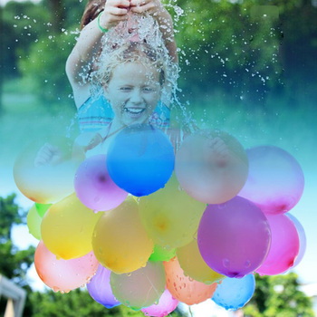 Factory wholesale self sealing 111pcs 3 bunch funny water balloon for kids toy