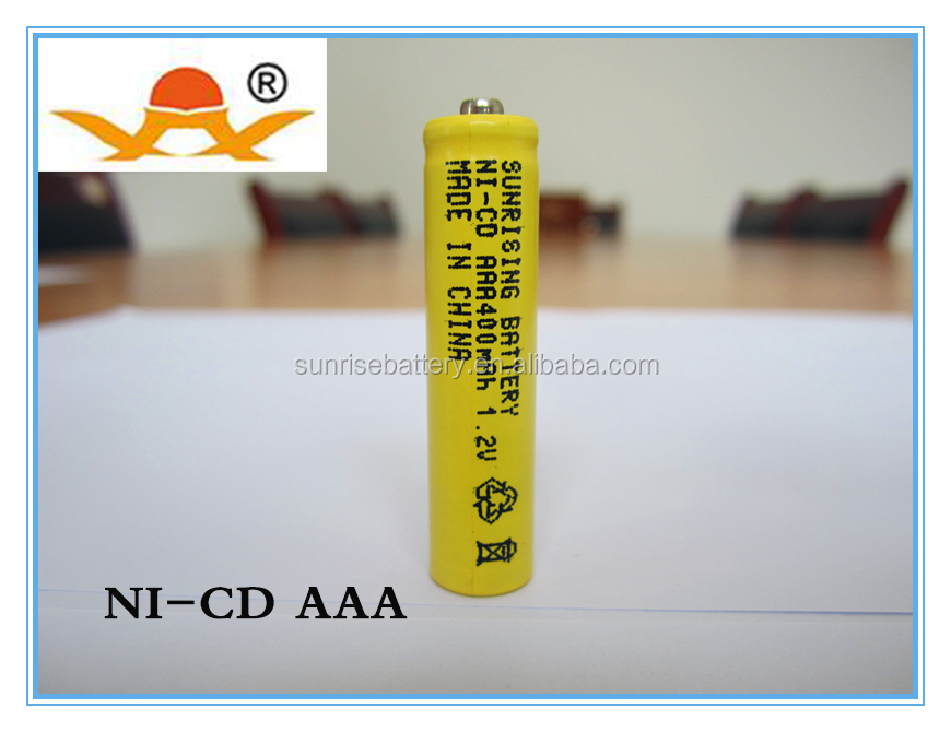 1.2v ni-cd aaa battery 400mah rechargeable battery