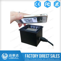 RS232/USB 1D/2D QR Barcode Smart Mobile Phone LCD Barcode Reader Scanner