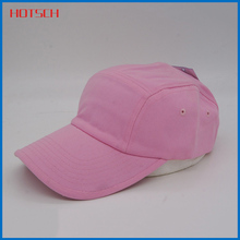 Cheap Custom 100% Cotton Unisex common pink baseball hat/cap