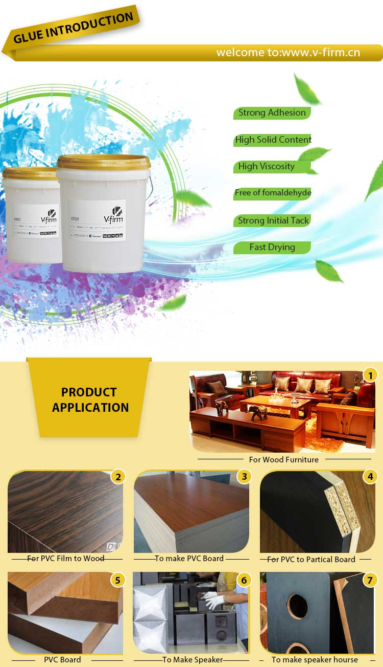 White Liquid Glue for PVC Sheet to Wood Board