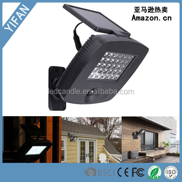 2016 new arrival Solar Motion Sensor Security Light Led Outdoor Waterproof Lamp