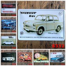 Wholesale Car Van Flat Jagst Nostalgic Tin Sign Retro Wall Decor Vintage Craft Art Home Pub Bar Restaurant Decor