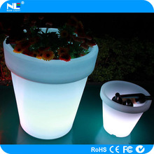 LED illuminate glowing flower pot LED lighted planter pots/LED flower pot decorative vase light