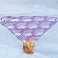43x31cm 3-layer reactive printing plain baby bibs