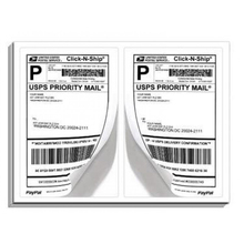 200 Shipping Labels Blank Half Page Self Adhesive for Laser Inkjet Printer