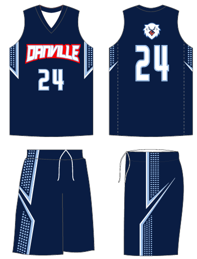 customized sublimated club basketball team uniforms