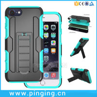 3 in 1 PC Silicone Belt Clip Holster Kickstand Case 3 in 1 PC Silicone Belt Clip Holster Kickstand Case For iPhone 7 Case
