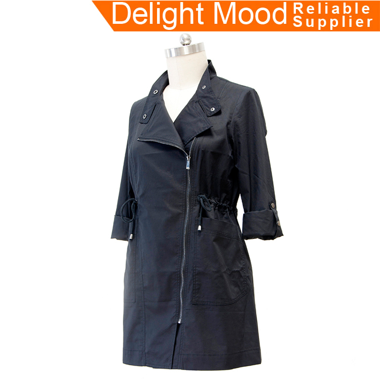 The latest factory supply cheap twill black down best women's coats 2017
