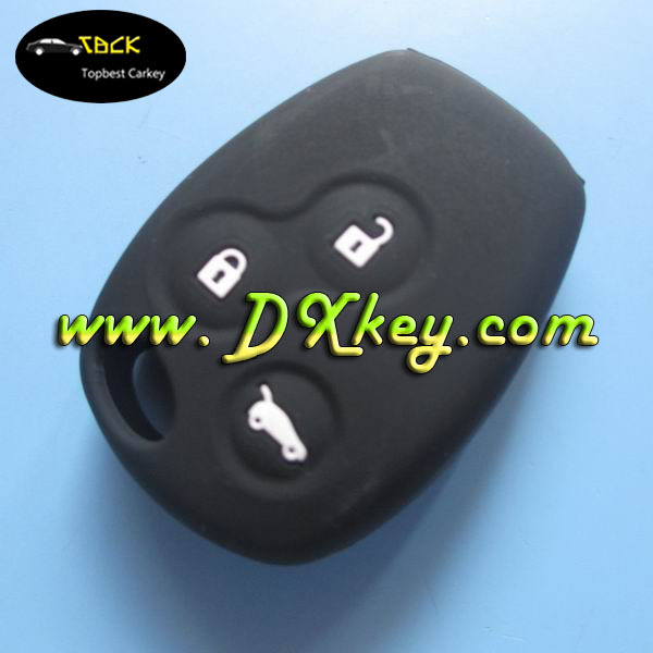 Hot selling 3 buttons silicone car key protective cover for renault key case