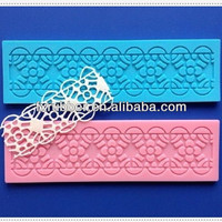 New products nice rectangle silicone lace molds for cake decorating