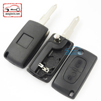 High Quatity Citroen romote flip key shell 2 button 307 blank With battery place 0536 Citroen key case