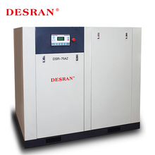 Desran AC Power silent oil injected direct driven rotary Screw Air compressor 55KW /75HP