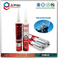 PU8610 China PU/Polyurthane windscreen glass bonding adhesive glue used for engineering machinery vehicle side glass