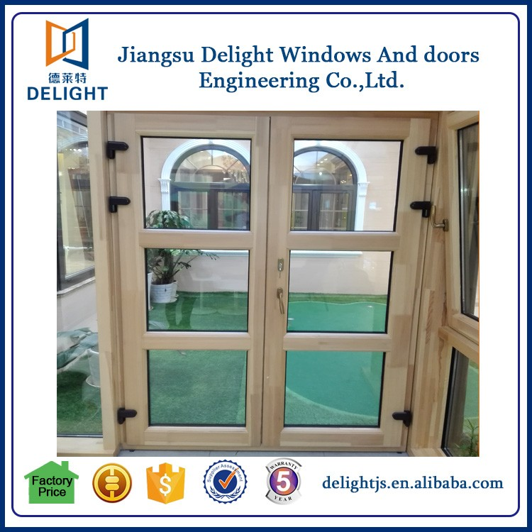 China market casement aluminium wood door with good quality