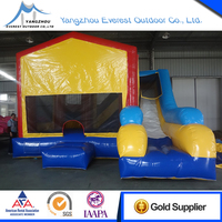 2015 Popular hot sale 6.7mX5.6mX4.5m cartoon inflatable bounce combo