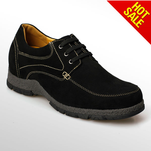 Black soft leather man hiking shoes 2013/ casual shoes men for hiking shoes