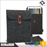 Hot Sale Modern Design Leather Case 12.9'' Wool Felt Case Sleeve for iPad Pro