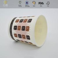 2016 NEW Design cardboard sleeve hot drink plastic cup with high quality