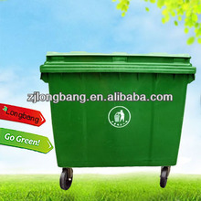 660L mobile Waste container with 4 wheels for sale(LBL-660)