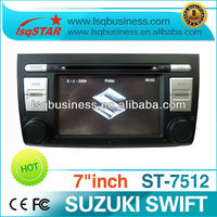 Receiver internet radio for SUZUKI SWIFT with GPS navigation Bluetooth TV IPOD RCA touch screen multimeida palyer,ST-7512