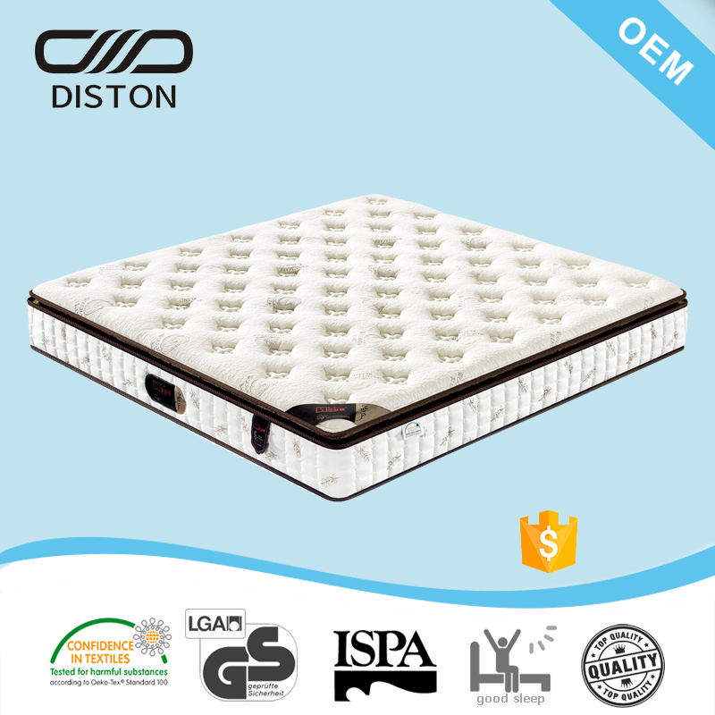 "3-4 star hotel use 10"" pillow top Independent coil various mattress sizes"